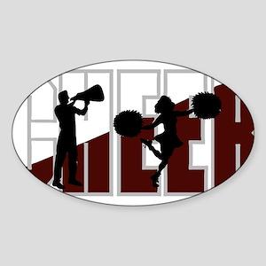 CHEER *16* {crimson/white} Sticker (Oval)