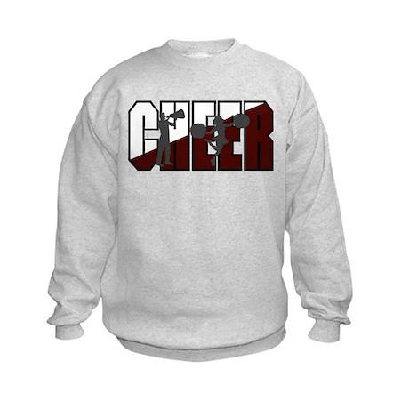 CHEER *16* {crimson/white/gra Kids Sweatshirt