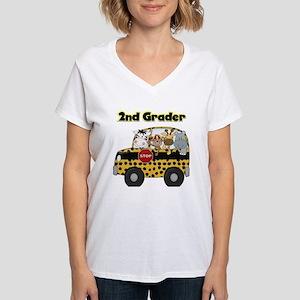 Zoo Animals 2nd Grade Women's V-Neck T-Shirt