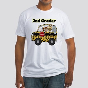 Zoo Animals 2nd Grade Fitted T-Shirt