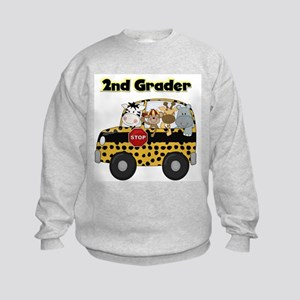 Zoo Animals 2nd Grade Kids Sweatshirt