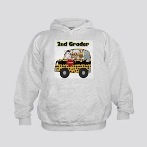 Zoo Animals 2nd Grade Kids Hoodie