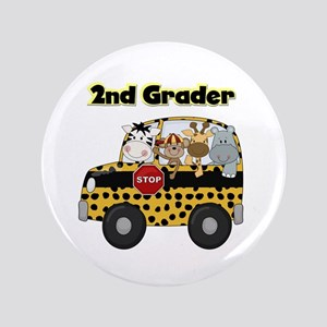 "Zoo Animals 2nd Grade 3.5"" Button"