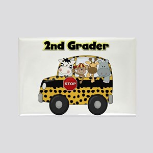 Zoo Animals 2nd Grade Rectangle Magnet