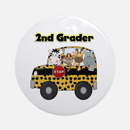 Zoo Animals 2nd Grade Ornament (Round)
