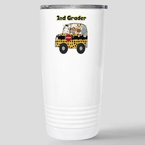 Zoo Animals 2nd Grade Stainless Steel Travel Mug
