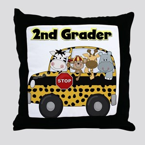 Zoo Animals 2nd Grade Throw Pillow