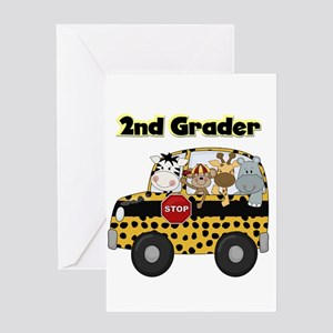 Zoo Animals 2nd Grade Greeting Card