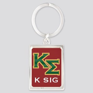 K Sig Letters Keychains