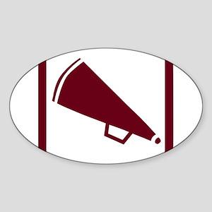 MEGAPHONE *5* {crimson} Sticker (Oval)