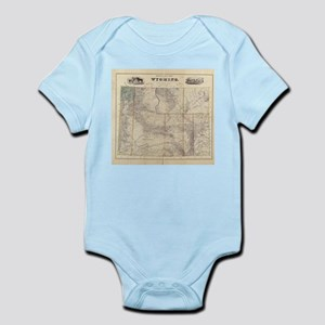 Vintage Map of Wyoming (1883) Body Suit