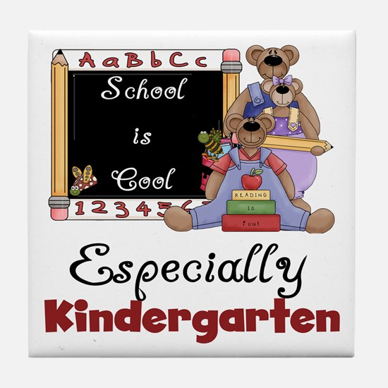 Kindergarten School is Cool Tile Coaster