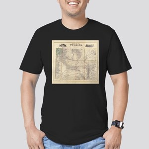 Vintage Map of Wyoming (1883) T-Shirt