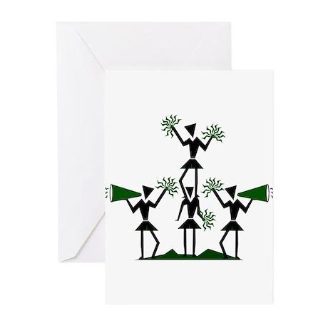 CHEER *29* {green} Greeting Cards (Pk of 10)