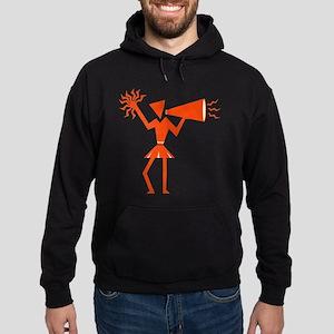 CHEER *30* {orange} Hoodie (dark)