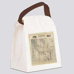 Vintage Map of Wyoming (1883) Canvas Lunch Bag