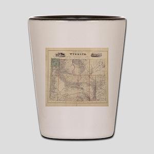 Vintage Map of Wyoming (1883) Shot Glass