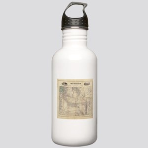 Vintage Map of Wyoming Stainless Water Bottle 1.0L