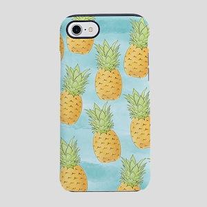 Pineapple Pattern Blue iPhone 7 Tough Case