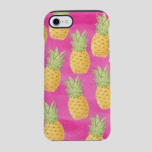 Pineapple Pattern Pink iPhone 7 Tough Case