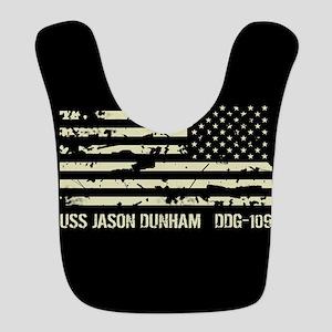 USS Jason Dunham Polyester Baby Bib