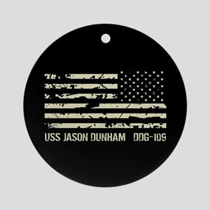 USS Jason Dunham Round Ornament