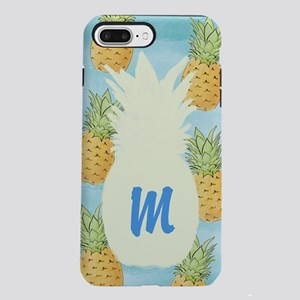 Pineapple Monogrammed iPhone 7 Plus Tough Case