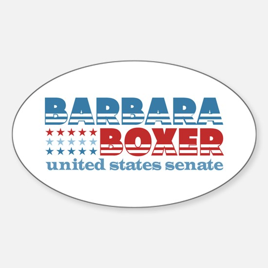 Boxer for Senator Sticker (Oval)