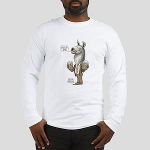 Beer Me Llama Long Sleeve T-Shirt