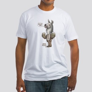 Beer Me Llama Fitted T-Shirt