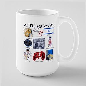 All Things Jewish Large Mug