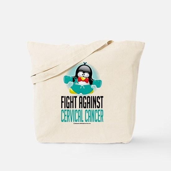 Fight Against Cervical Cancer Tote Bag