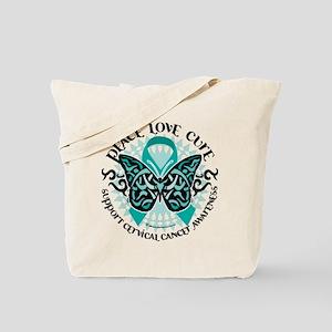 Cervical Cancer Tribal Butter Tote Bag