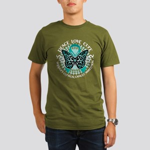 Cervical Cancer Tribal Butter Organic Men's T-Shir
