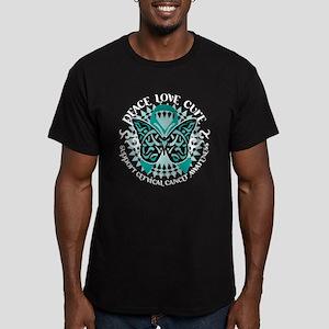 Cervical Cancer Tribal Butter Men's Fitted T-Shirt