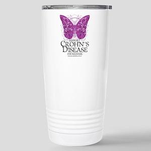 Crohn's Disease Butterfly Stainless Steel Travel M
