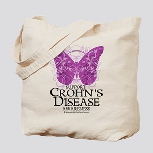 Crohn's Disease Butterfly Tote Bag