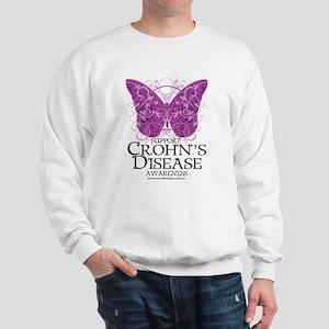 Crohn's Disease Butterfly Sweatshirt