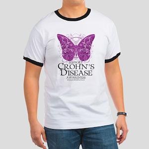 Crohn's Disease Butterfly Ringer T