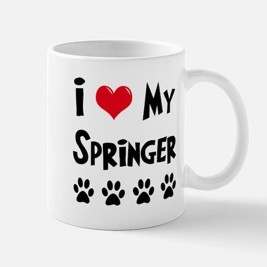 I Love My Springer Mug