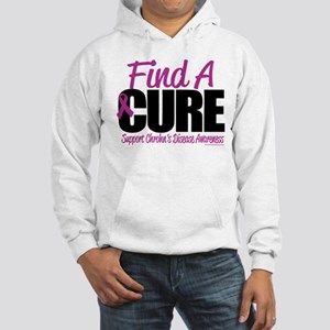 Crohn's Disease Find A Cure Hooded Sweatshirt