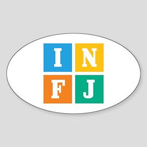 Myers-Briggs INFJ Sticker (Oval)