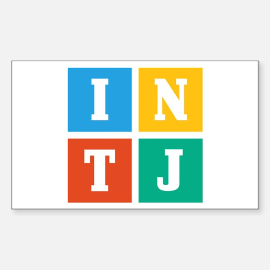 Myers-Briggs INTJ Sticker (Rectangle)