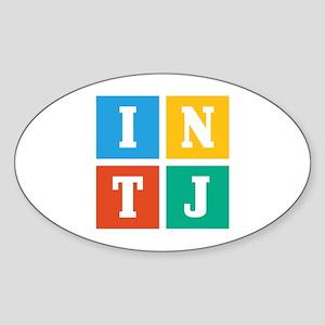 Myers-Briggs INTJ Sticker (Oval)