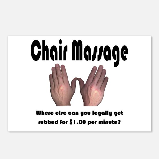 Chair massage  Postcards (Package of 8)