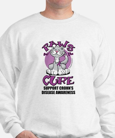 Paws For The Cure Crohn's Dis Sweatshirt