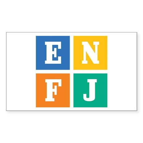 Myers-Briggs ENFJ Sticker (Rectangle)