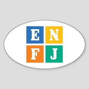 Myers-Briggs ENFJ Sticker (Oval)