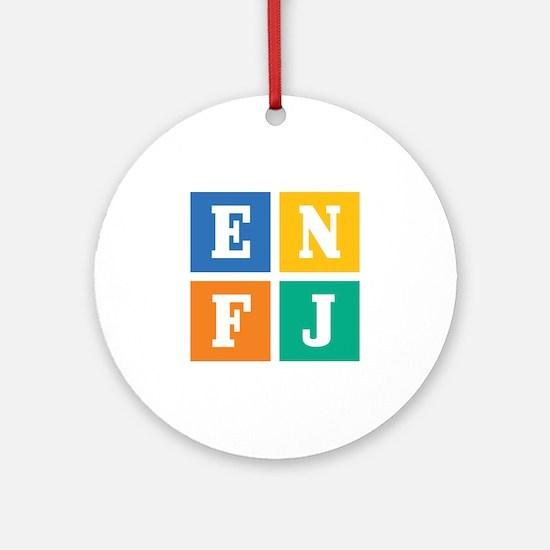Myers-Briggs ENFJ Round Ornament