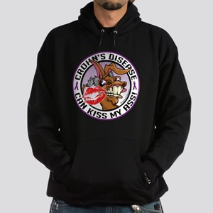 Crohn's Disease Can Kiss My A Hoodie (dark)